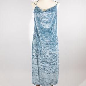 NWT Topshop Blue Velvet Dress